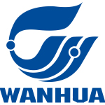 wanhua blue text and shape