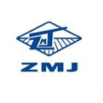 zmj logo blue text and blue shape