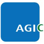 agic capital logo blue white text