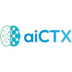 aiCTX logo brain shape with blue text white background