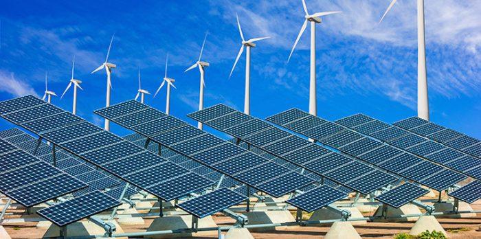 solar power and wind energy