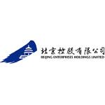 Beijing Enterprises Holdings logo blue and white shape with black text