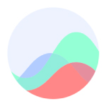 biobeats logo purple green red circular shapes in a circle