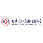 bright food logo red and blue