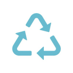 carbon recycling international logo light blue arrows with white background