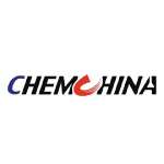 chemchina logo blue red letter and black text