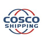 cosco logo blue text and circles