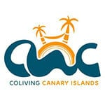 Coliving canary islands orange palm logo