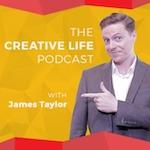 The creative life logo - man pointing on something
