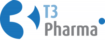 T3 Pharma logo blue grey