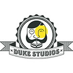 Duke Studios logo black yellow logo