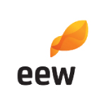 eew logo black text with orange shape