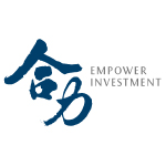 empower investment logo blue and grey with white background