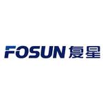 fosun logo blue text with white background
