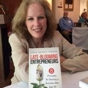 Lynne Strang late blooming entrepreneurs blogger and her book