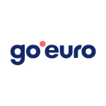 go euro logo dark blue with red dot and white background