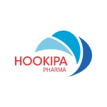 hookipa pharma logo red text blue wave shapes with white background