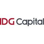 idg capital logo red and grey text with white background