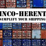 black inco-herent on a white background on a background with containers