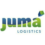 juma lofistics logo blue and green letters