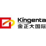 kingenta logo red yellow shapes and black text