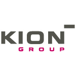 kion logo black and red text
