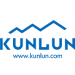 kunlun logo blue with white background