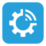 infraspeak logo light blue background and white draw