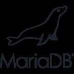 maria db logo black shape and text