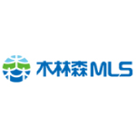 mls logo blue green and white shapes with blue text