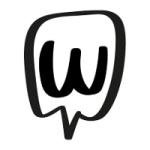 mrs wordsmith logo black shape with white background