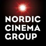 nordic cinema group logo black background with white text