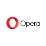 opera logo red o circle and black text