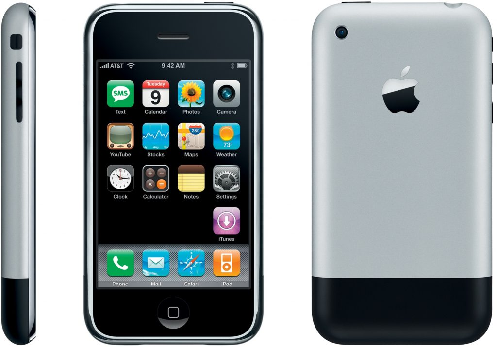 Original iPhone 2007 from 3 angles