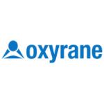 oxyrane logo blue with white background