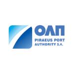 piraeus logo light blue and blue text