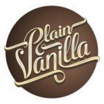 Plain Vanilla logo white text circle