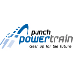punch powertrain logo blue shapes and text