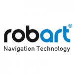 black and blue robart logo