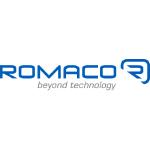 romaco logo blue text