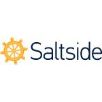 saltside logo orange with black text white background