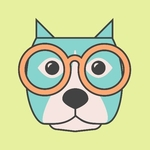 dog with glasses scout logo