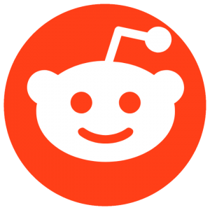 orange circle with smiling white robot in the middle