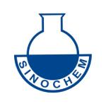 sinochem logo blue shapes and text