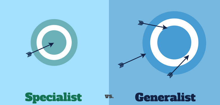 Specialist vs. Generalist arrows
