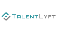 logo with teal and grey lettering on a white background