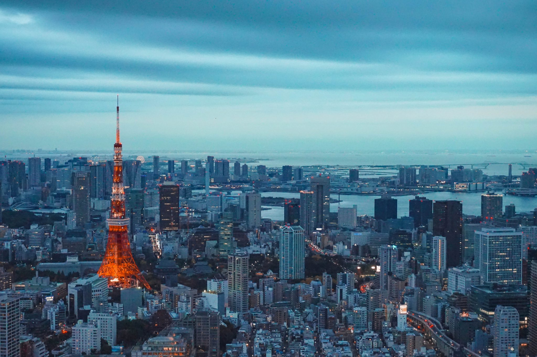 Tokyo, Japan city with tokyo tower