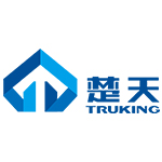truking logo blue and light blue shapes and characteres