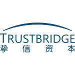 trustbridge partners logo blue text with white background