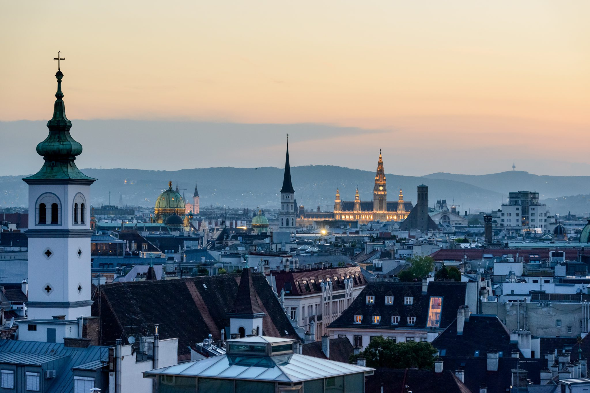 Vienna, Austria city at dawn